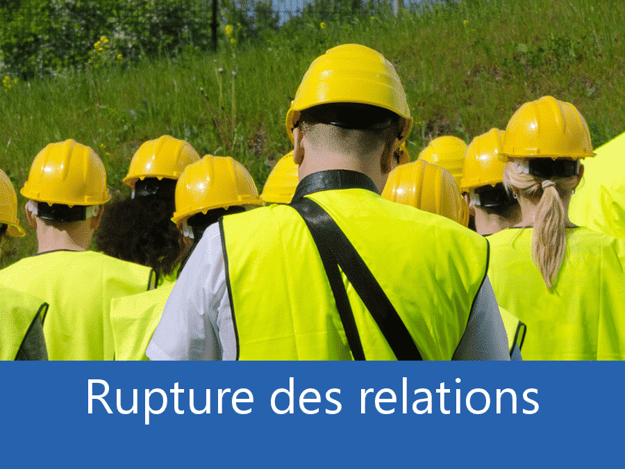 rupture des relation chantier 37, problème durant le chantier Tours, stress chantier Tours, problème durant le chantier Indre-et-Loire,